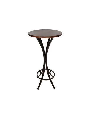 aluguel de mesa bistrô com tampo madeira