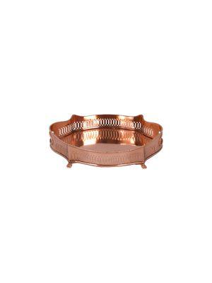 aluguel de bandeja ovalada cobre